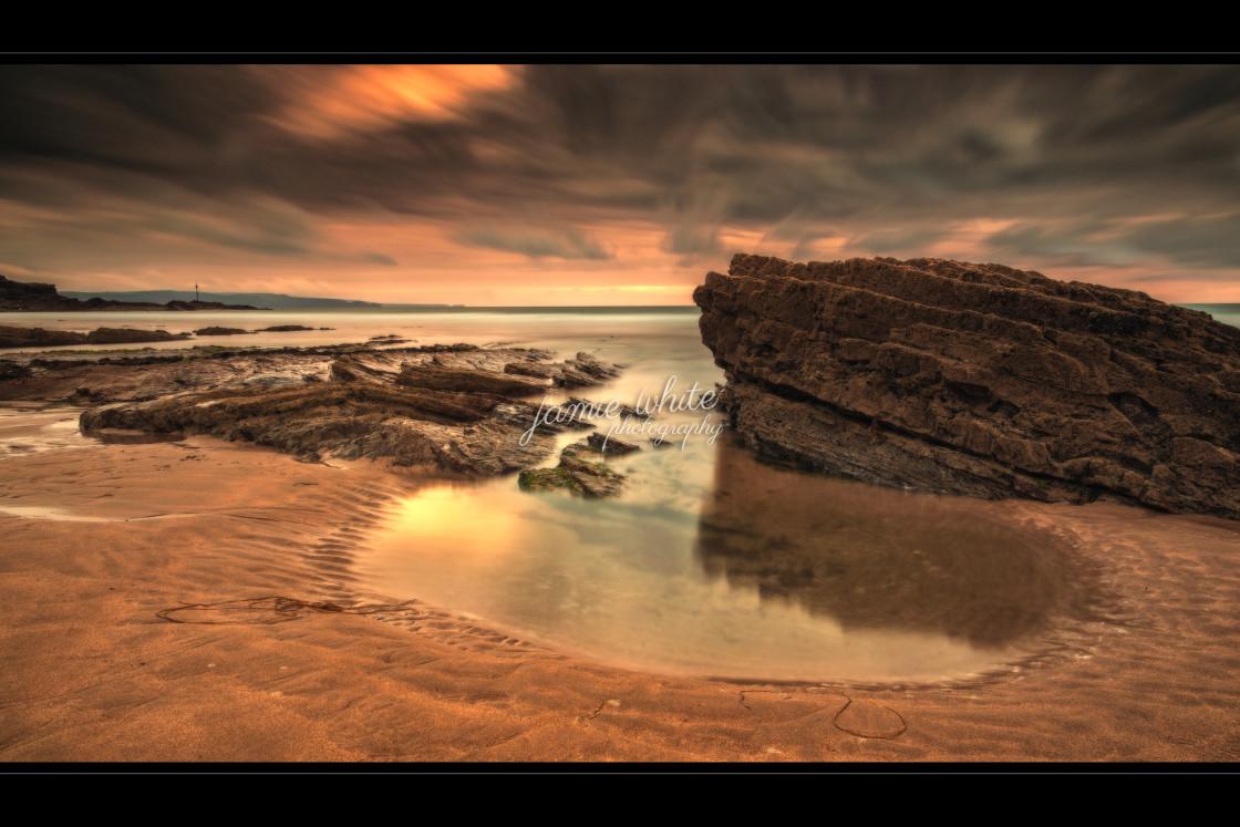 """Cornish Rock Pool"" stock image"
