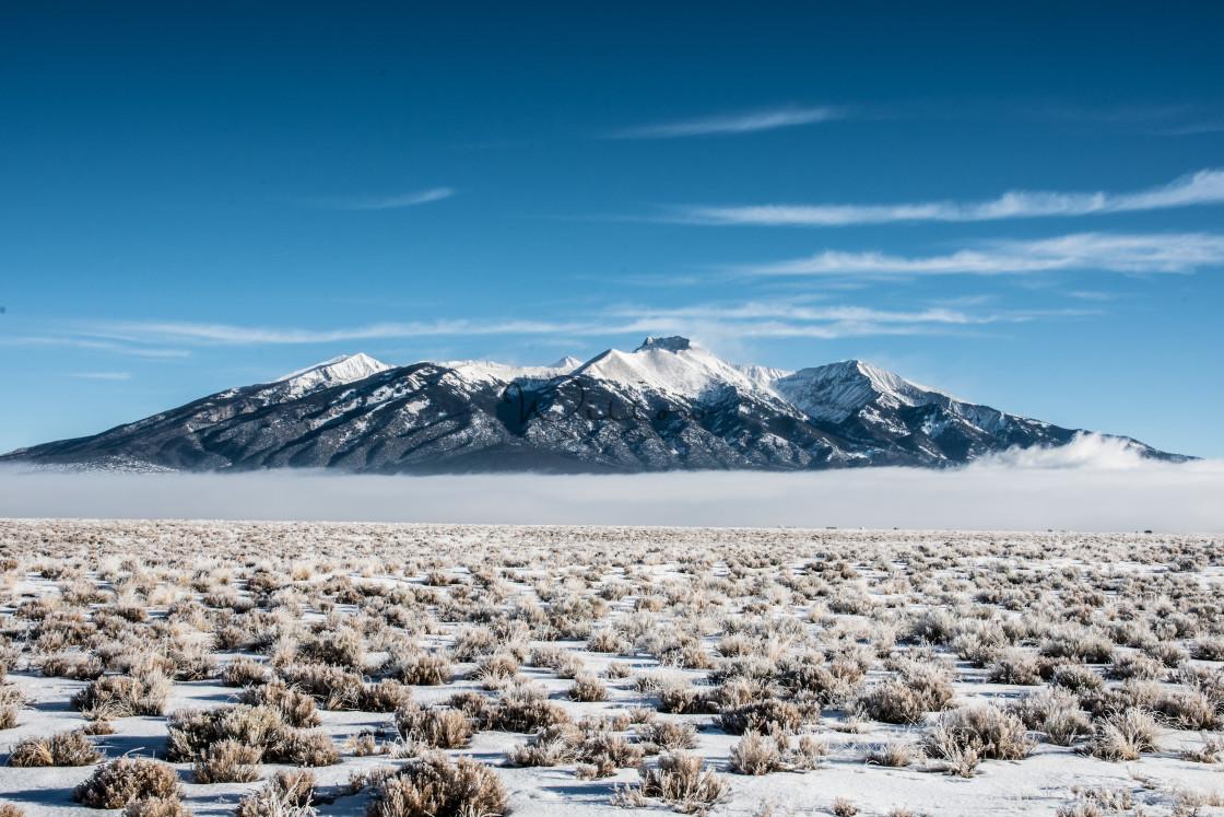 """Blanca Peak"" stock image"