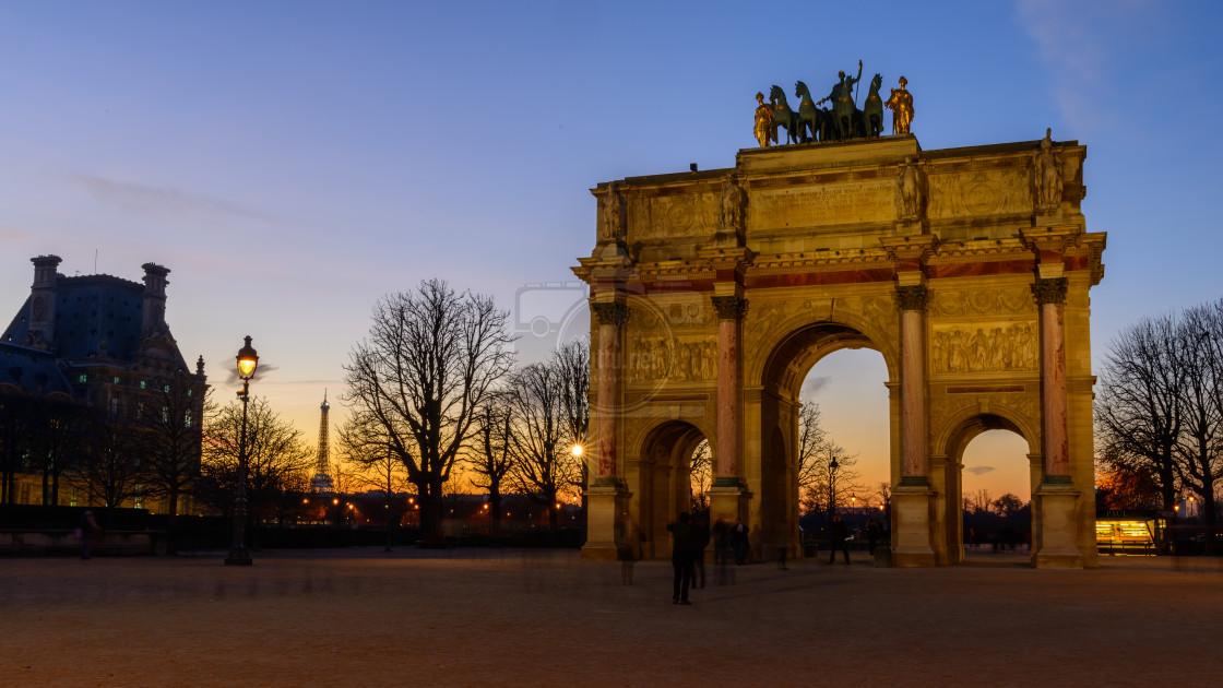 """""""La Tour Eiffel 2/3"""" stock image"""