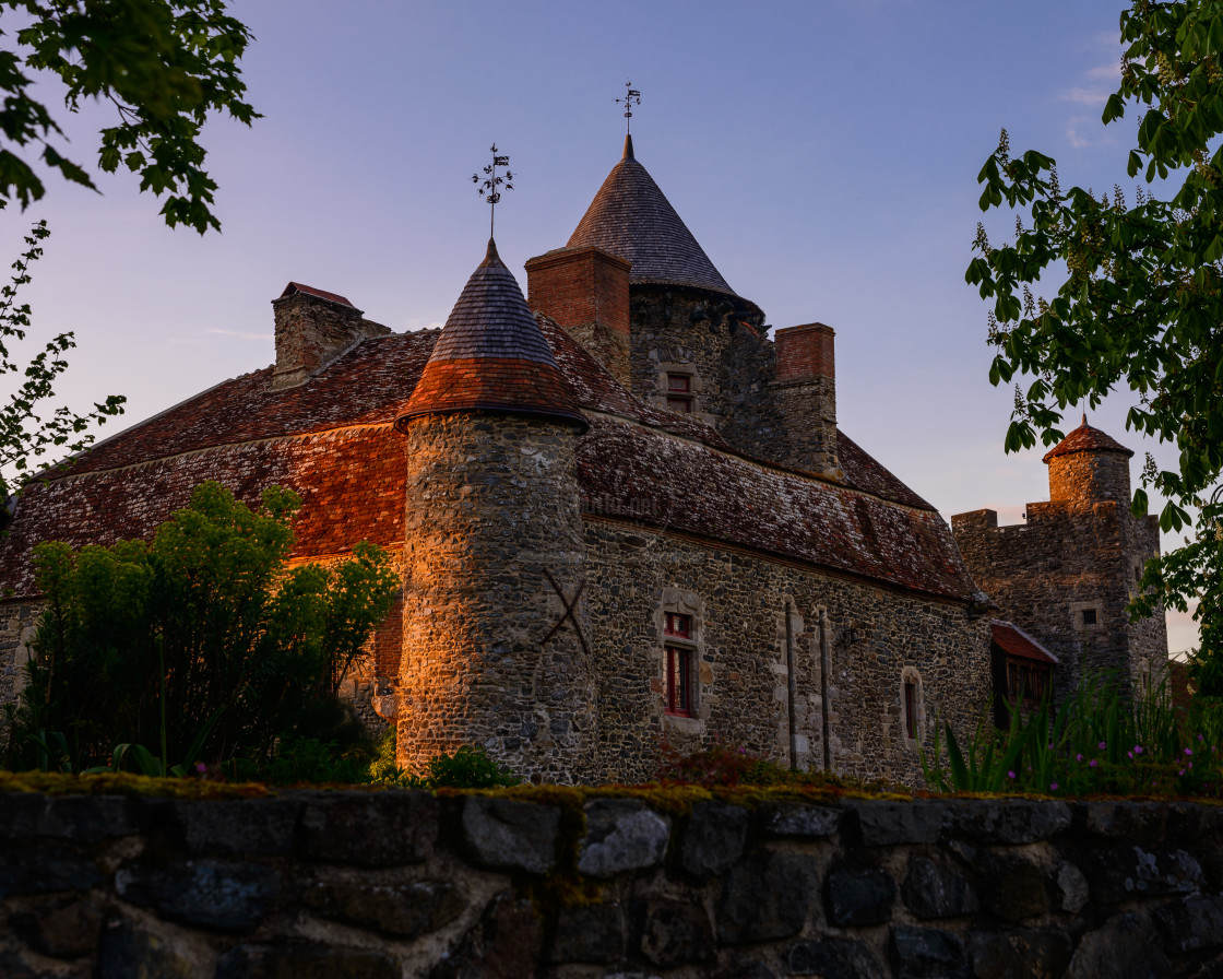 """Chateau de Bonnu"" stock image"