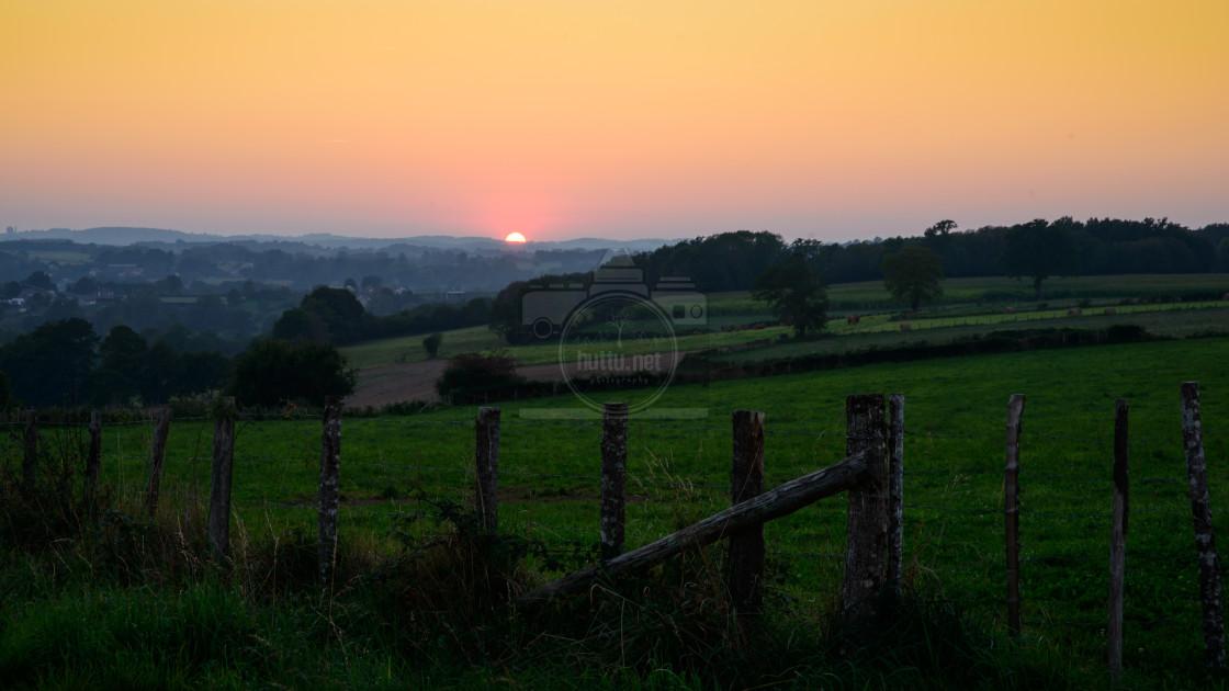 """""""September Sunset (Wallpaper/Background)"""" stock image"""