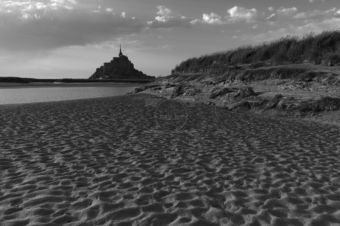 """Le Mont Saint-Michel III"" stock image"