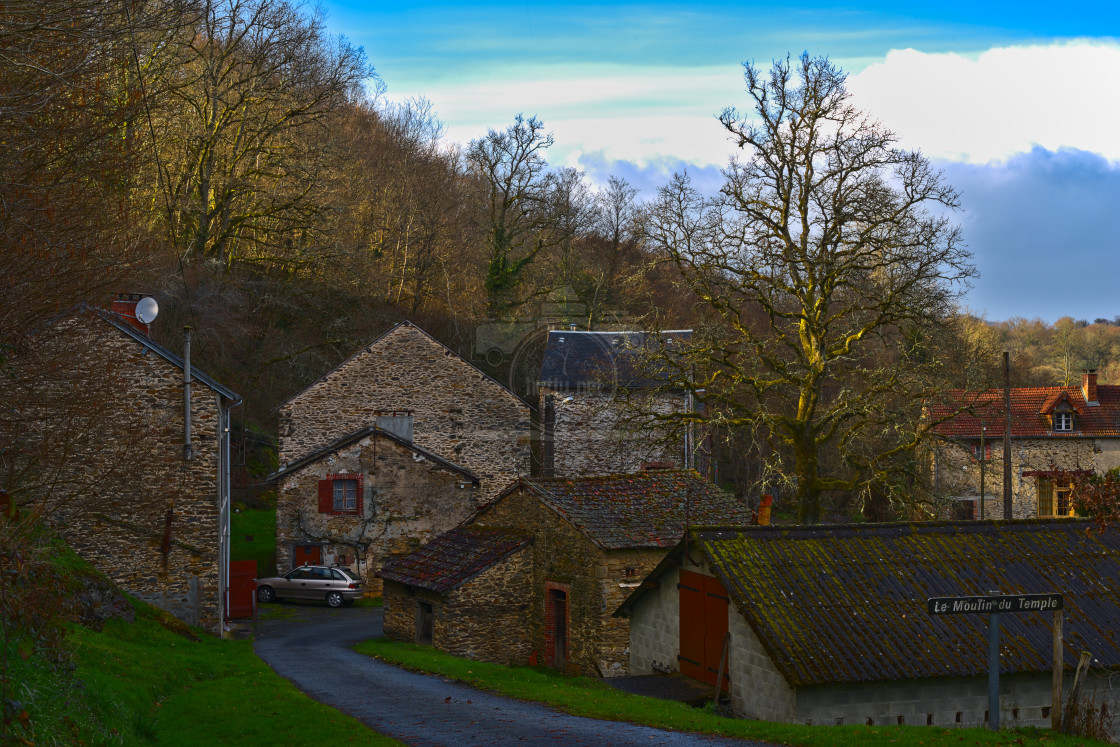 """Le Moulin du Temple"" stock image"