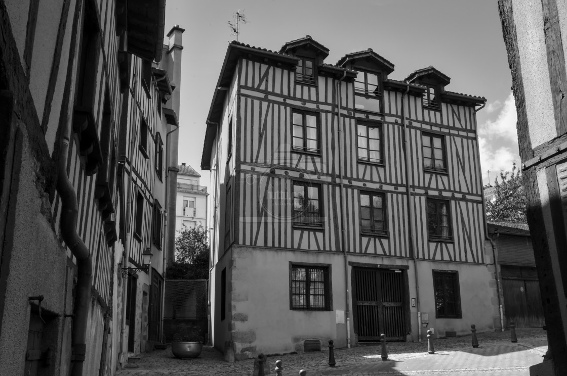 """Medieval Houses"" stock image"