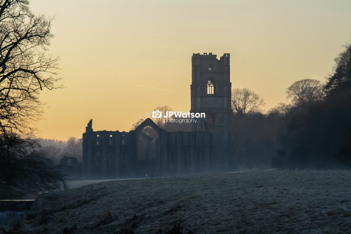 """""""Frosty Fountains Abbey"""" stock image"""