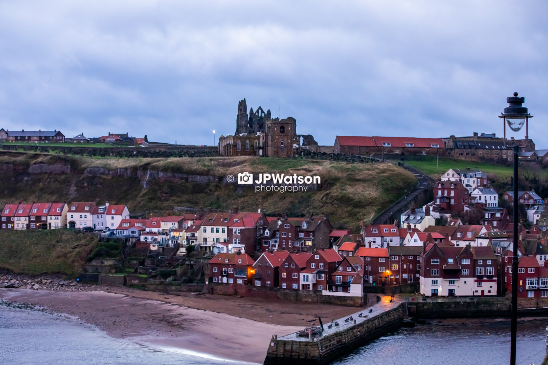 """View of Whitby"" stock image"