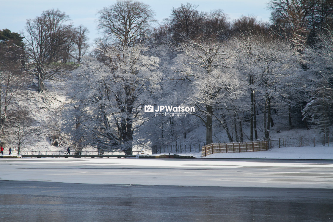 """Wintry Lake"" stock image"