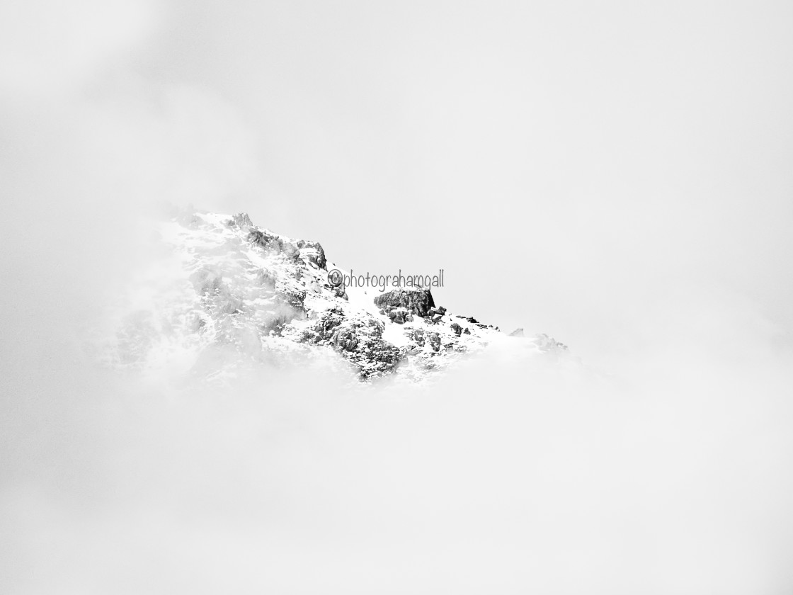 """""""Snow-capped Mountain - high key"""" stock image"""