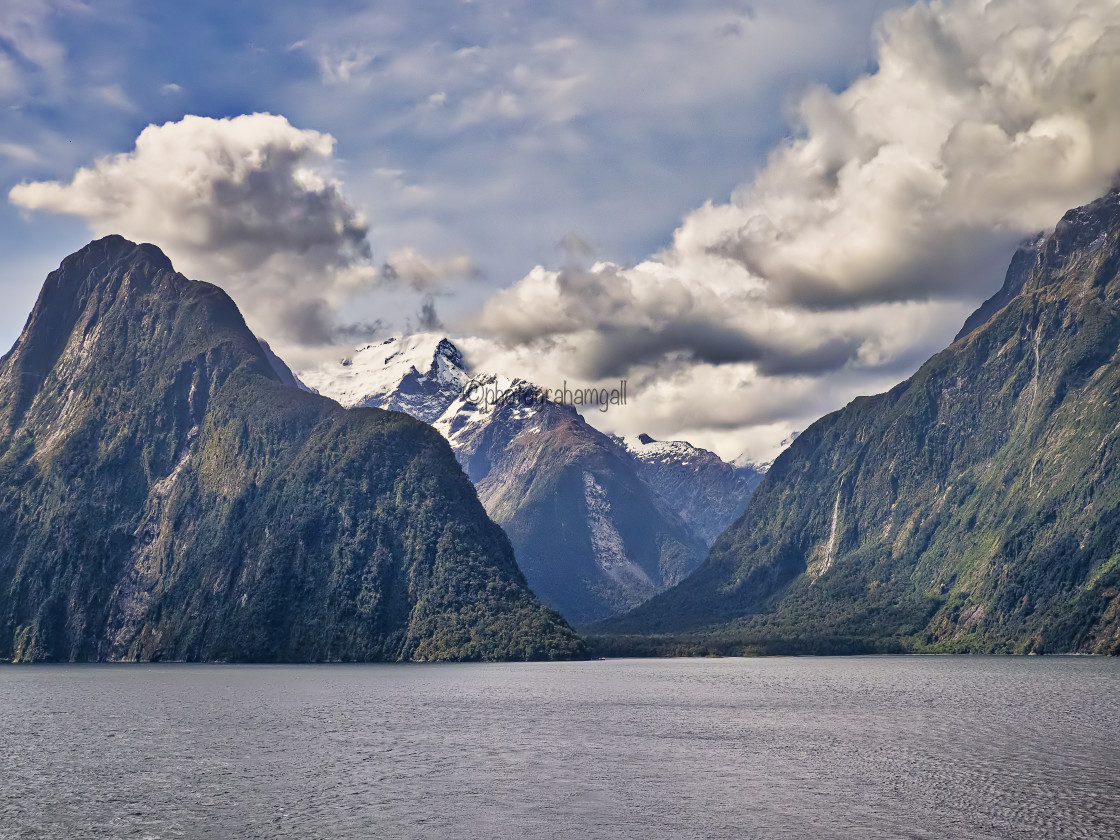 """""""Cloudscape - Milford Sound"""" stock image"""
