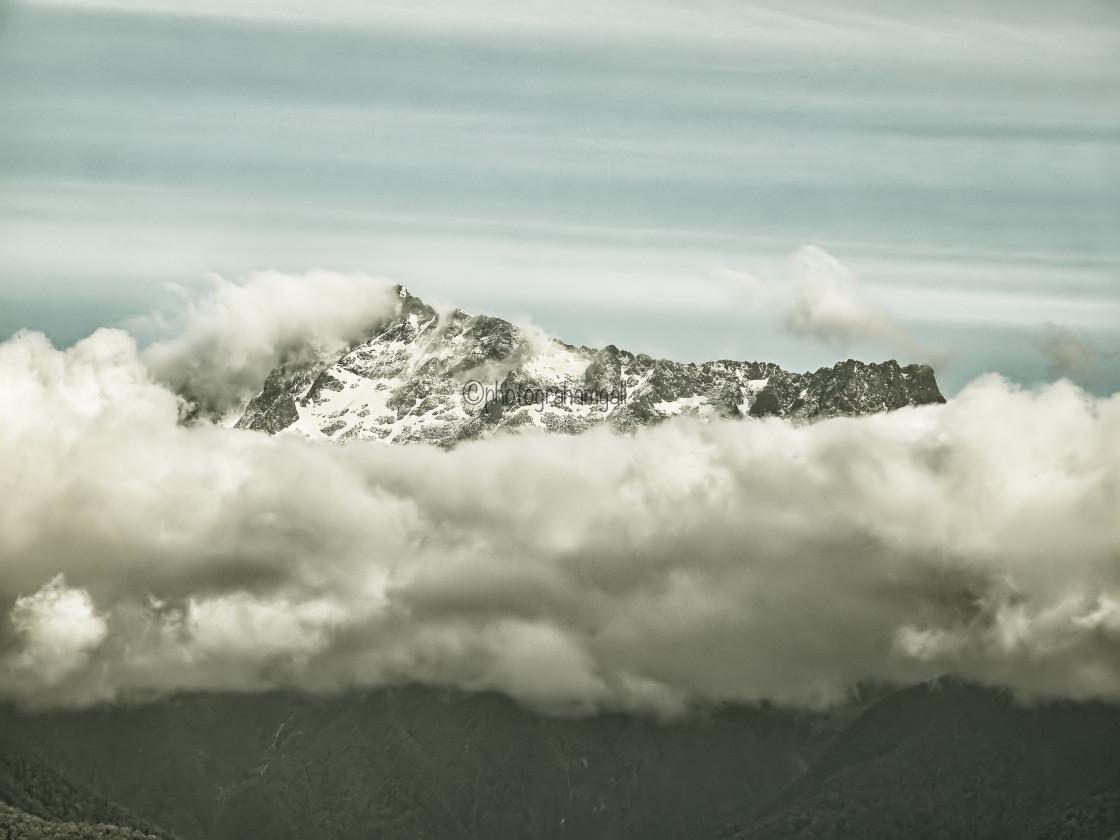 """""""Long White Cloud - Aotearoa"""" stock image"""