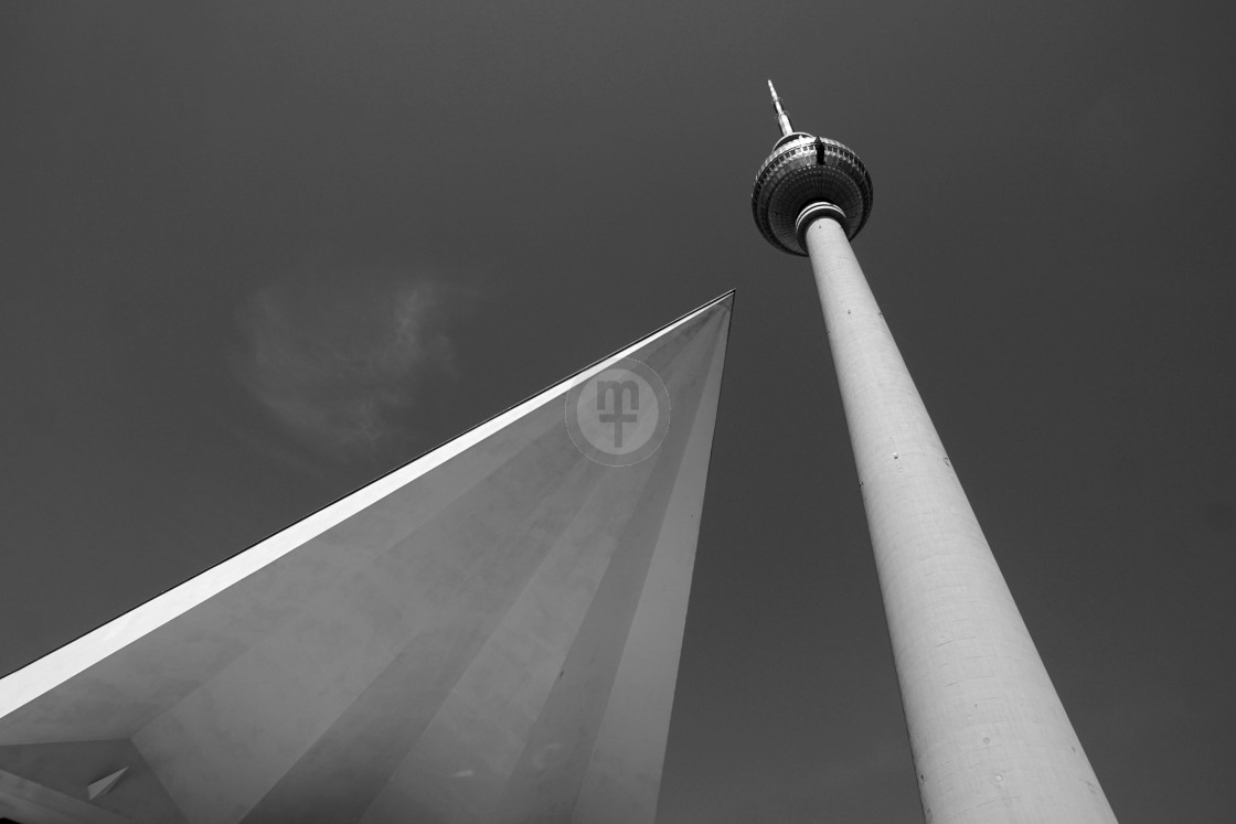 """TV tower, East Berlin"" stock image"