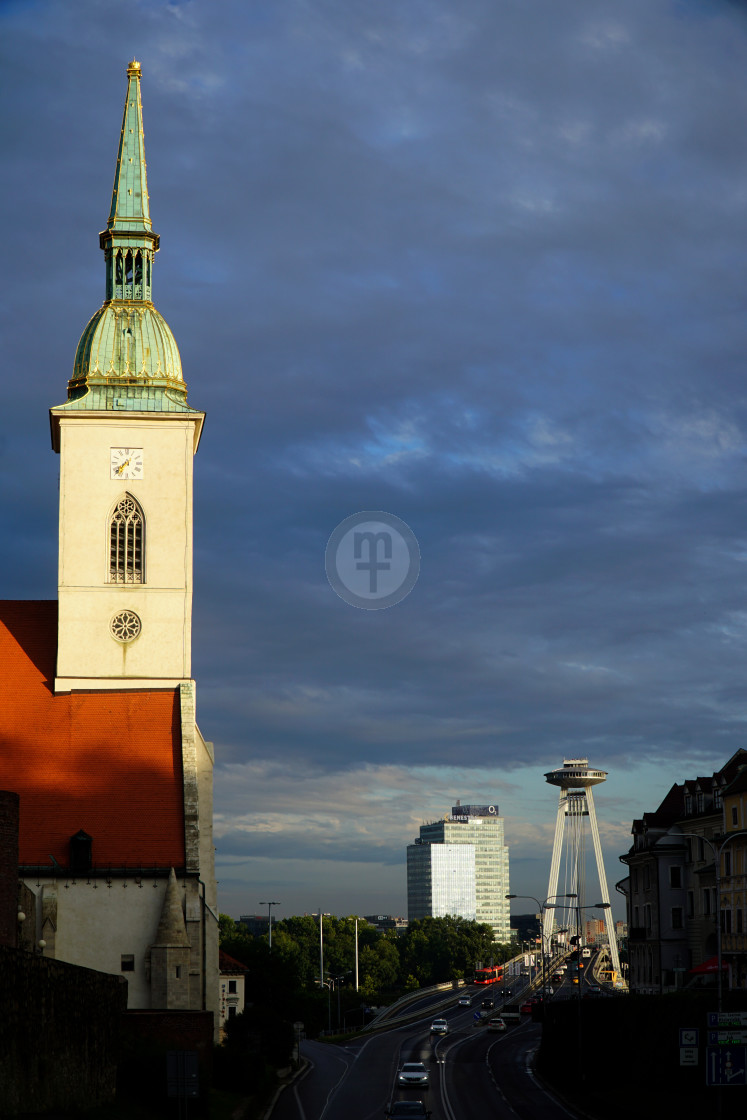 """Old Town evening, Bratislava"" stock image"