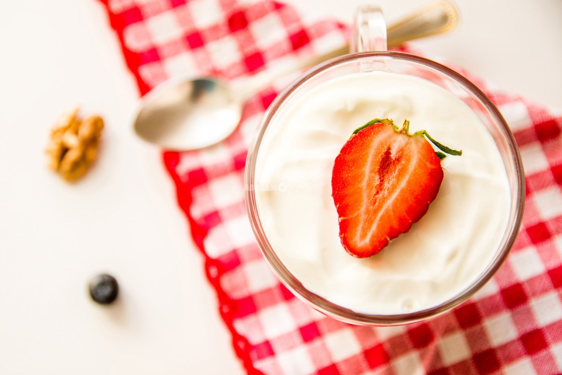 """Strawberry yogurt"" stock image"