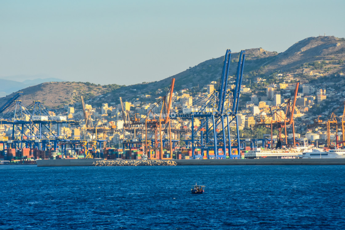 """Industrial area: Port"" stock image"