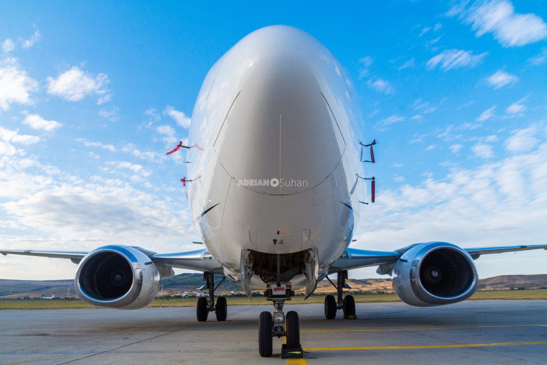 """Plane on the runway"" stock image"