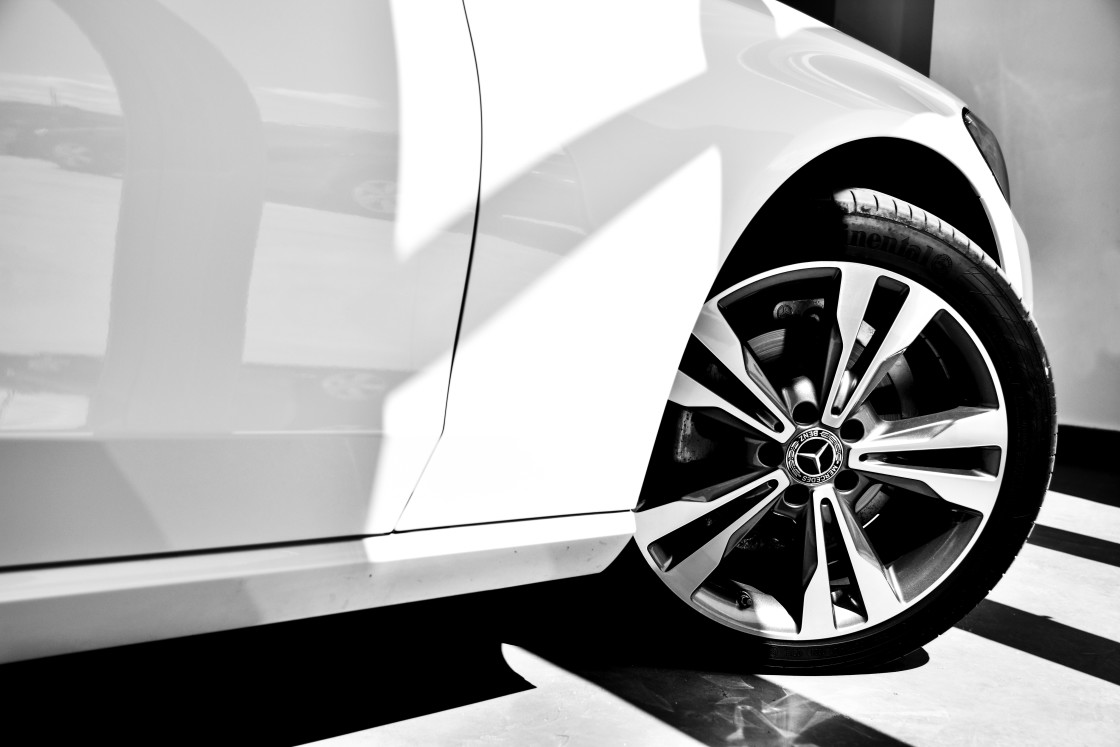 """Wheel rim Mercedes Benz"" stock image"