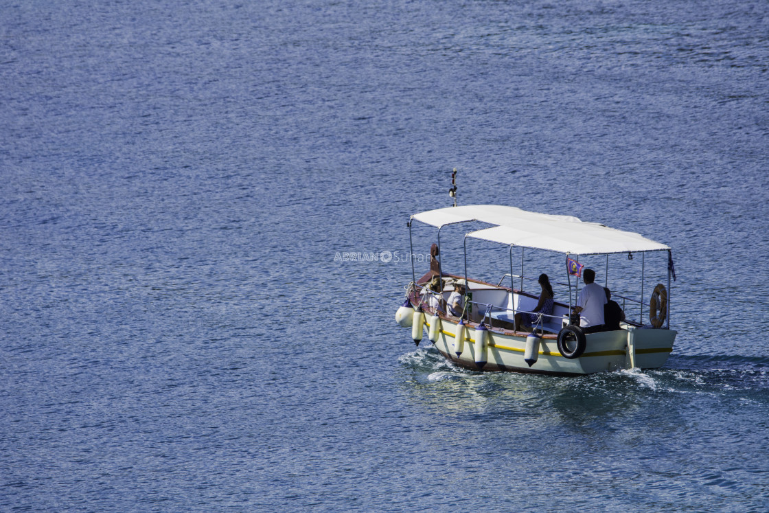 """Boat with tourists"" stock image"