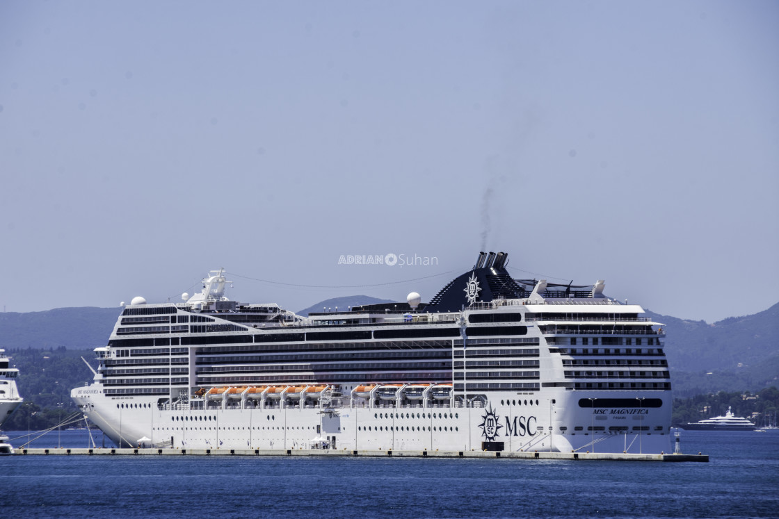 """""""Cruise ship in the port"""" stock image"""