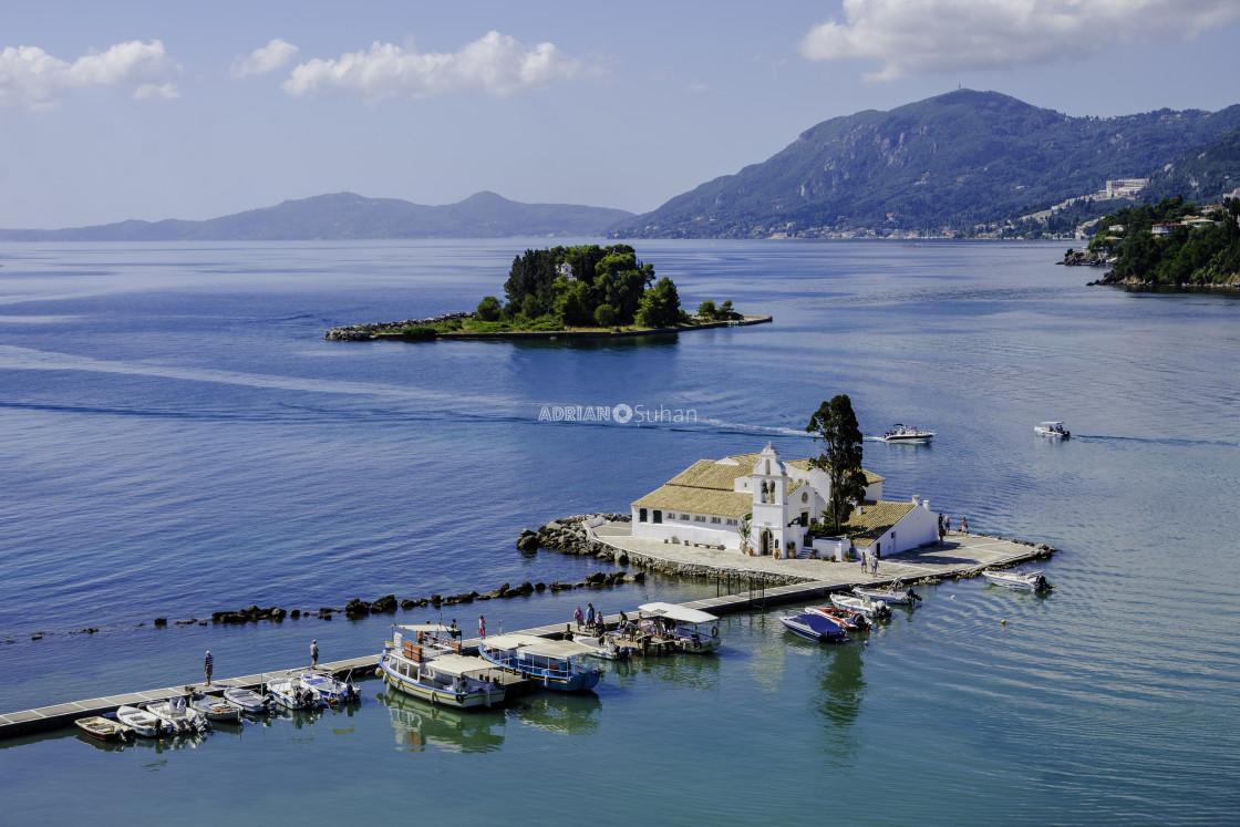"""""""Biserica Vlacherna from Corfu"""" stock image"""