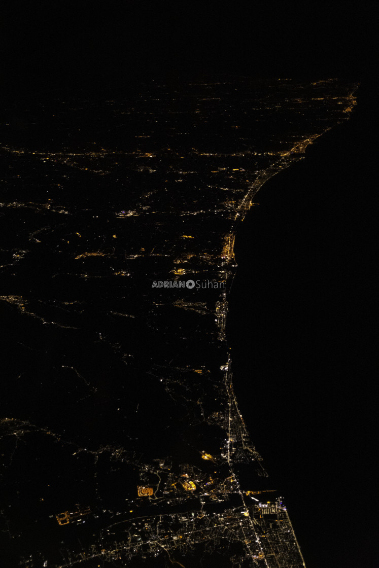"""""""East coast of Italy from above"""" stock image"""