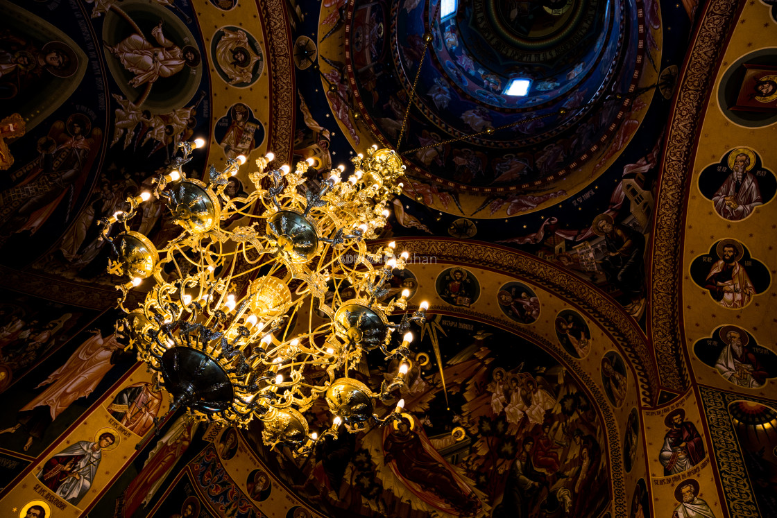 """""""Chandelier in the church"""" stock image"""