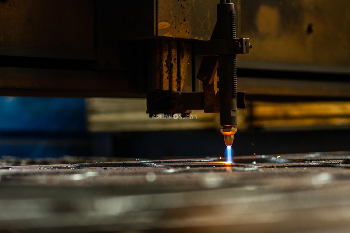 """Factory metal processing"" stock image"