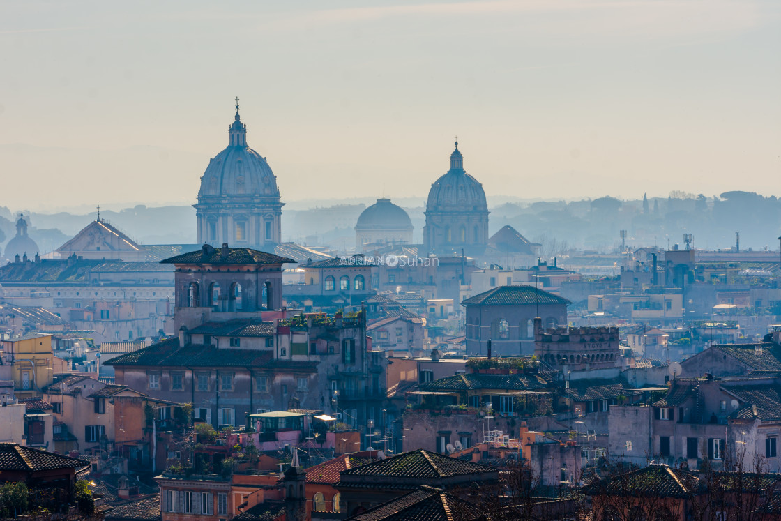 """""""Domes in rome"""" stock image"""