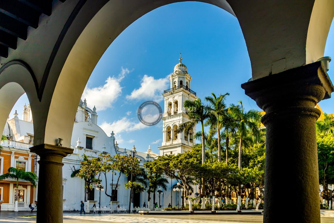 """Cathedral of Veracruz"" stock image"