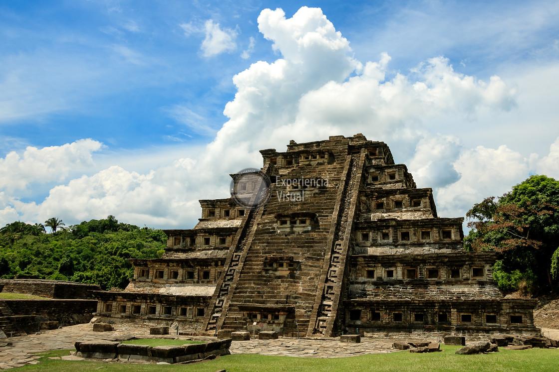 """""""Tajin - Piramide de los Nichos"""" stock image"""