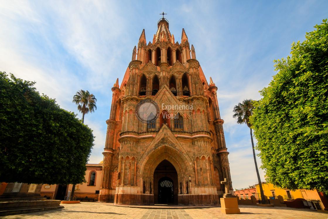 """""""San Miguel Arcángel Parish V"""" stock image"""