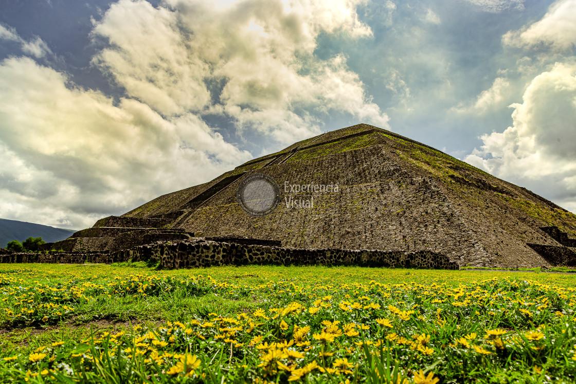 """Teotihuacan Pyramid of the Sun"" stock image"