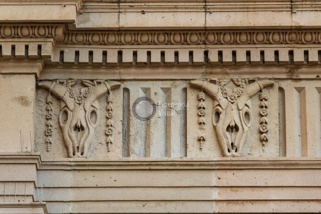 """""""Detail of Chihuahua Municipal Palace"""" stock image"""