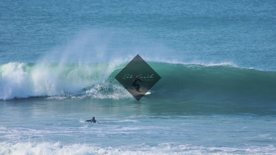 """""""Fistral putting on a show."""" stock image"""