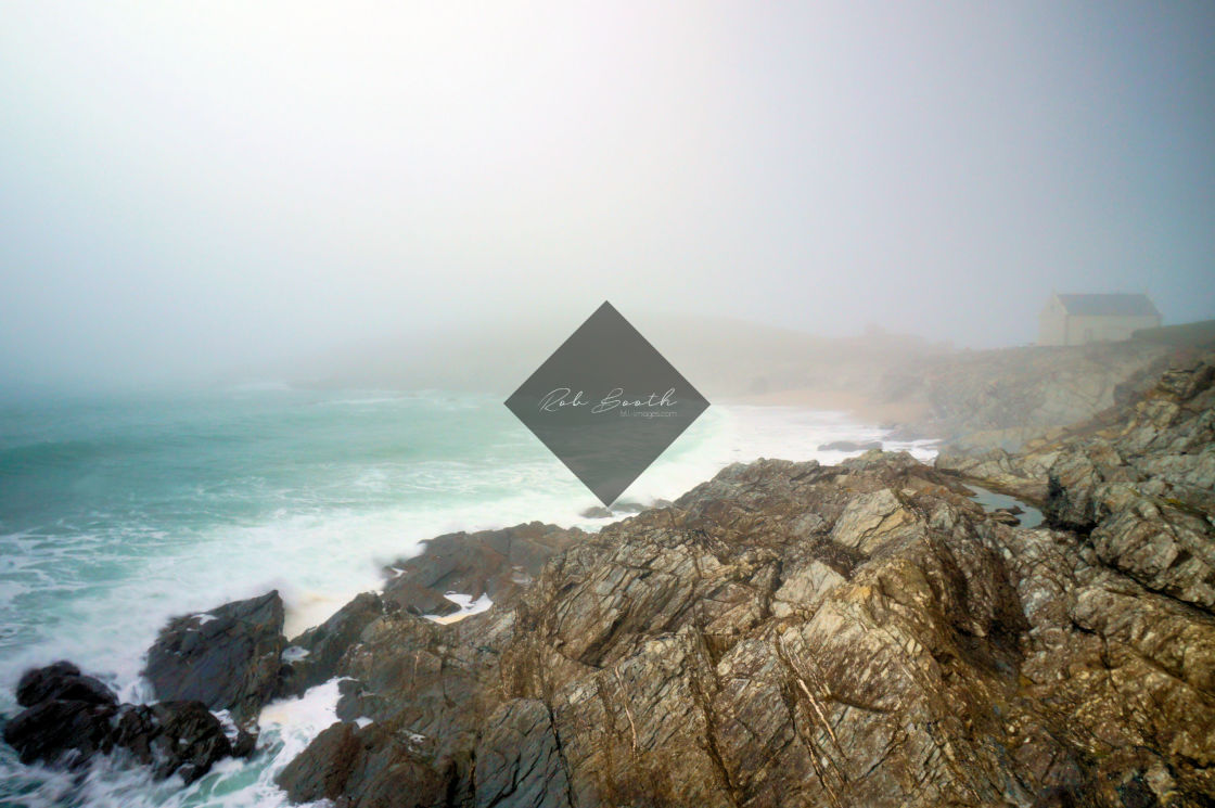 """""""Misty Little Fistral"""" stock image"""
