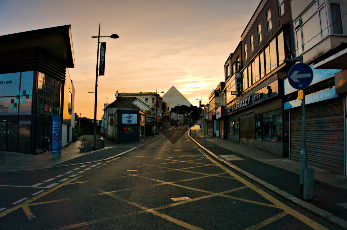 """""""East Street at Dawn"""" stock image"""