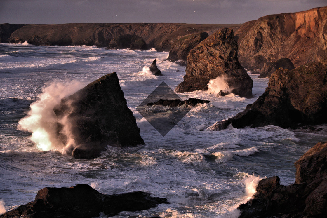 """""""Stormy Bedruthan."""" stock image"""
