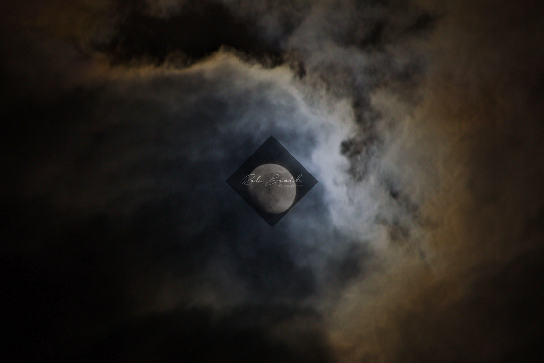 """""""Moon & Clouds"""" stock image"""