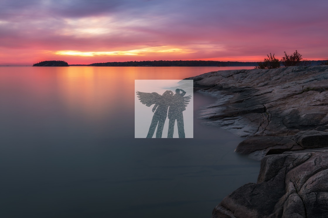 """Killbear Sunset"" stock image"
