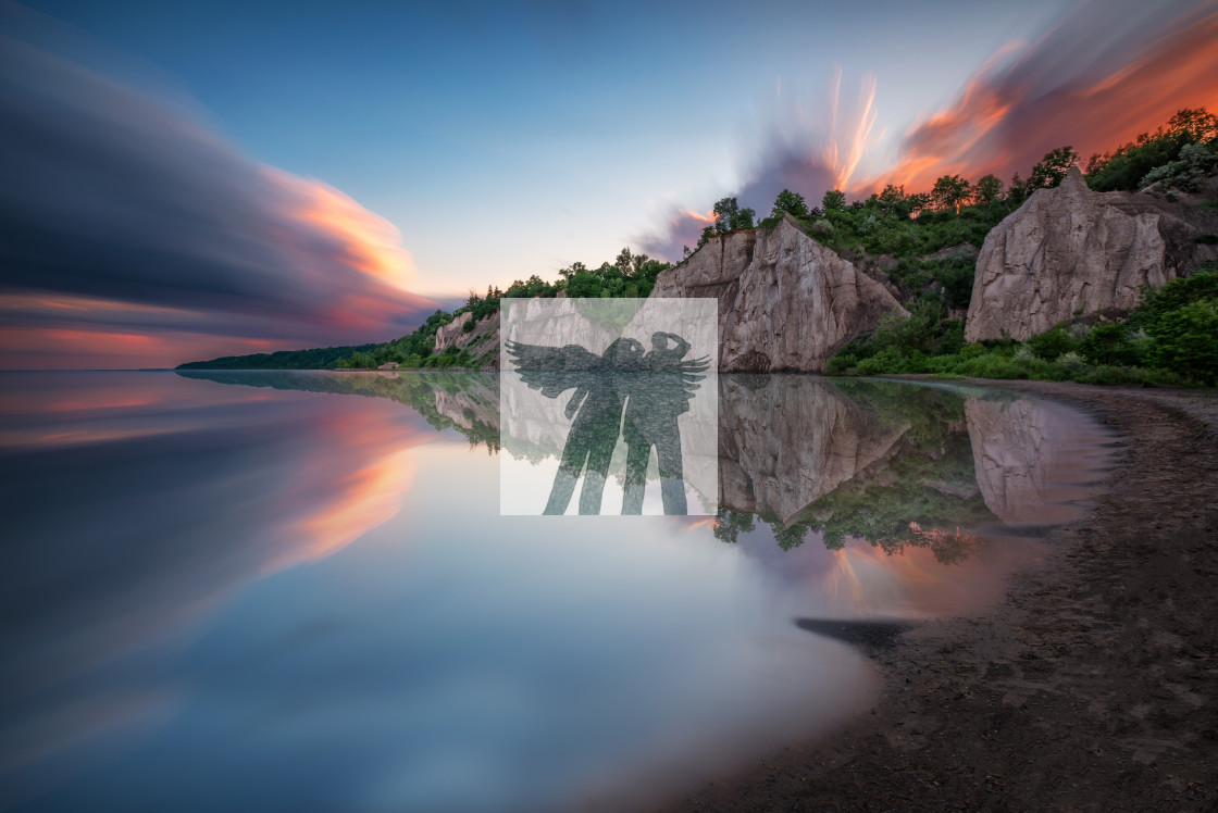 """Bluff Reflection"" stock image"