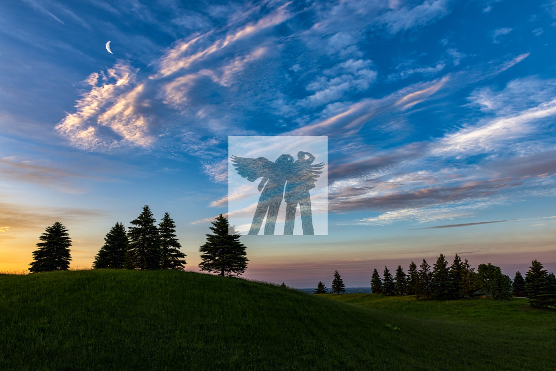 """Escarpment Road Sunrise"" stock image"
