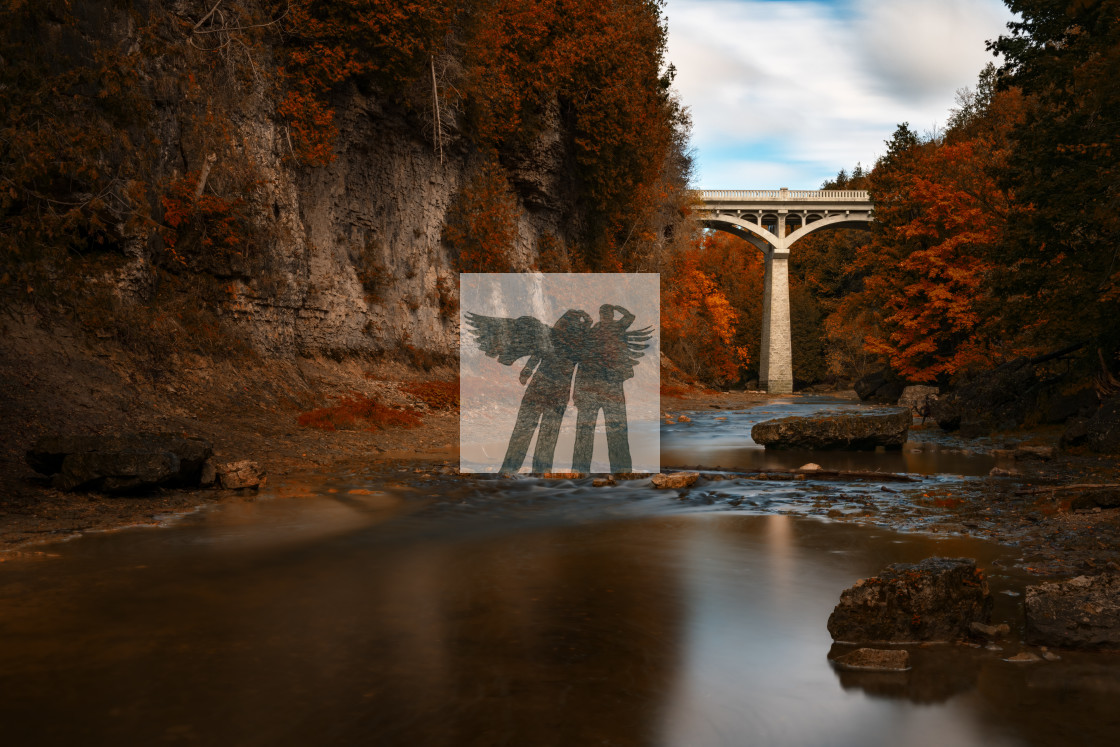"""Autumn in Elora"" stock image"