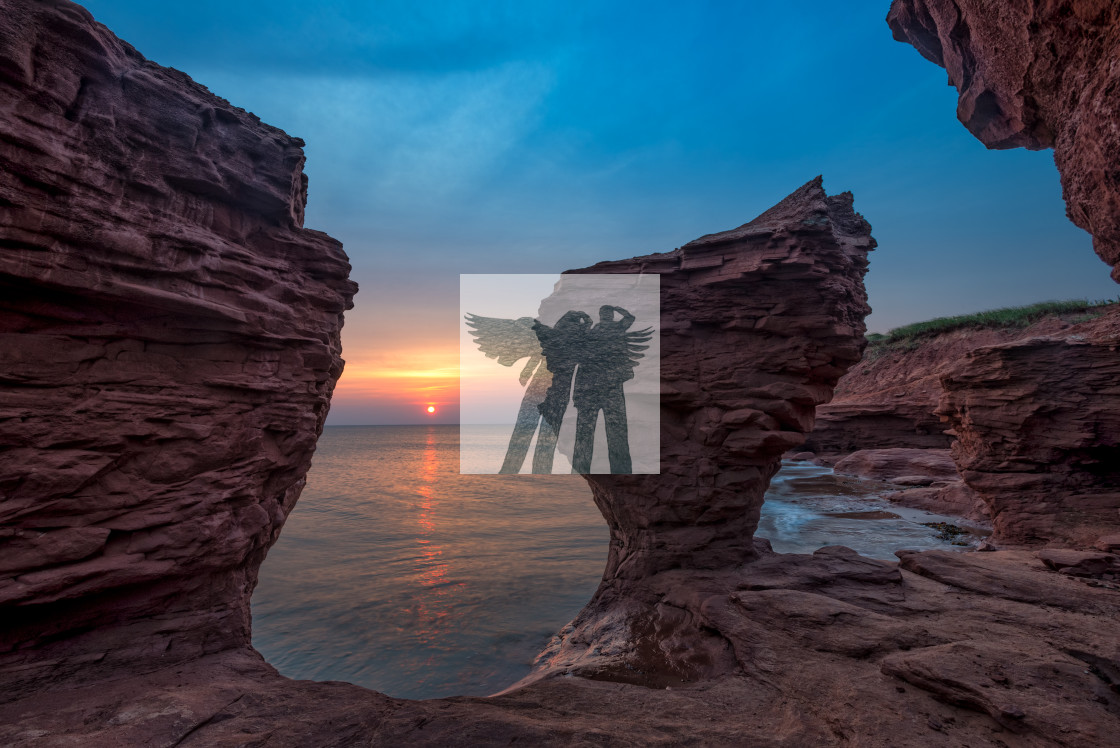 """Sunrise at Thunder Cove"" stock image"