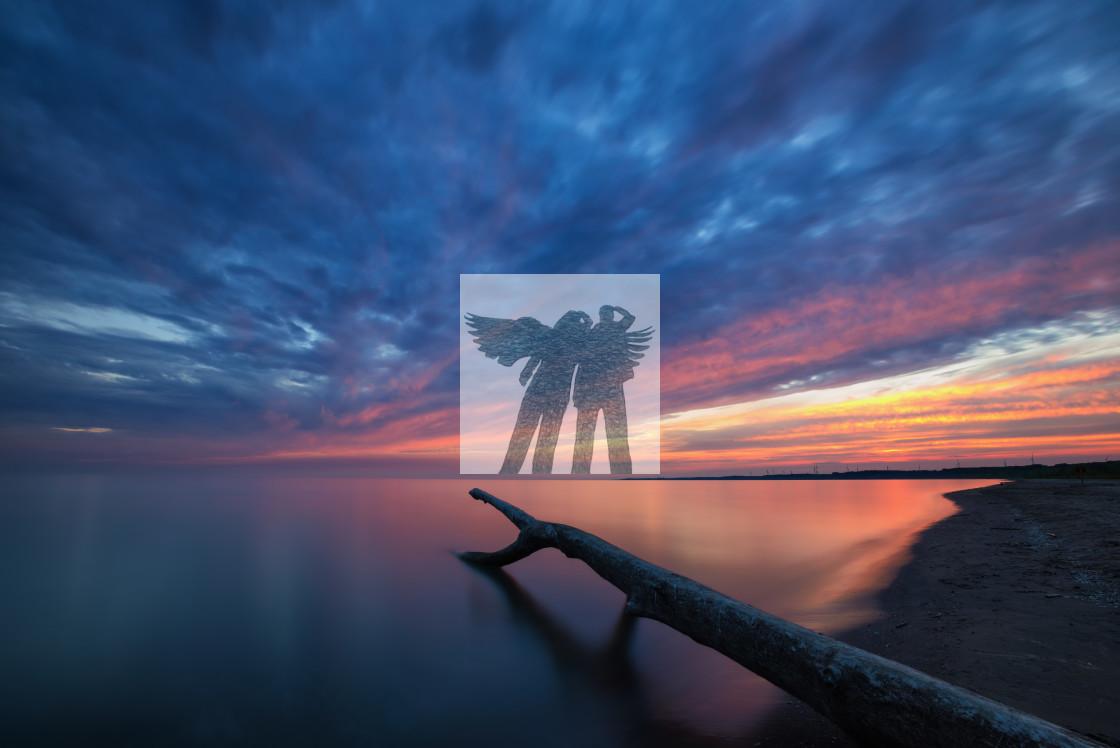 """Port Burwell Sunset"" stock image"