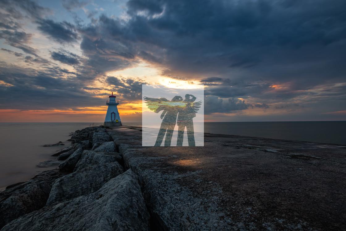 """""""Southampton Sunset"""" stock image"""