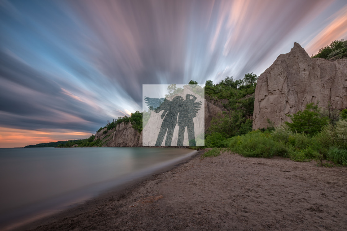 """Scarborough Bluffs Sunset"" stock image"