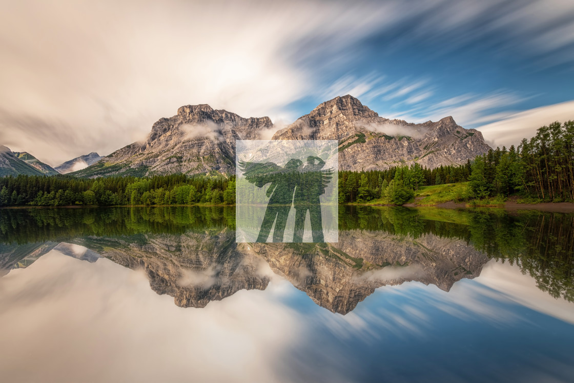 """Mount Kidd Reflections"" stock image"