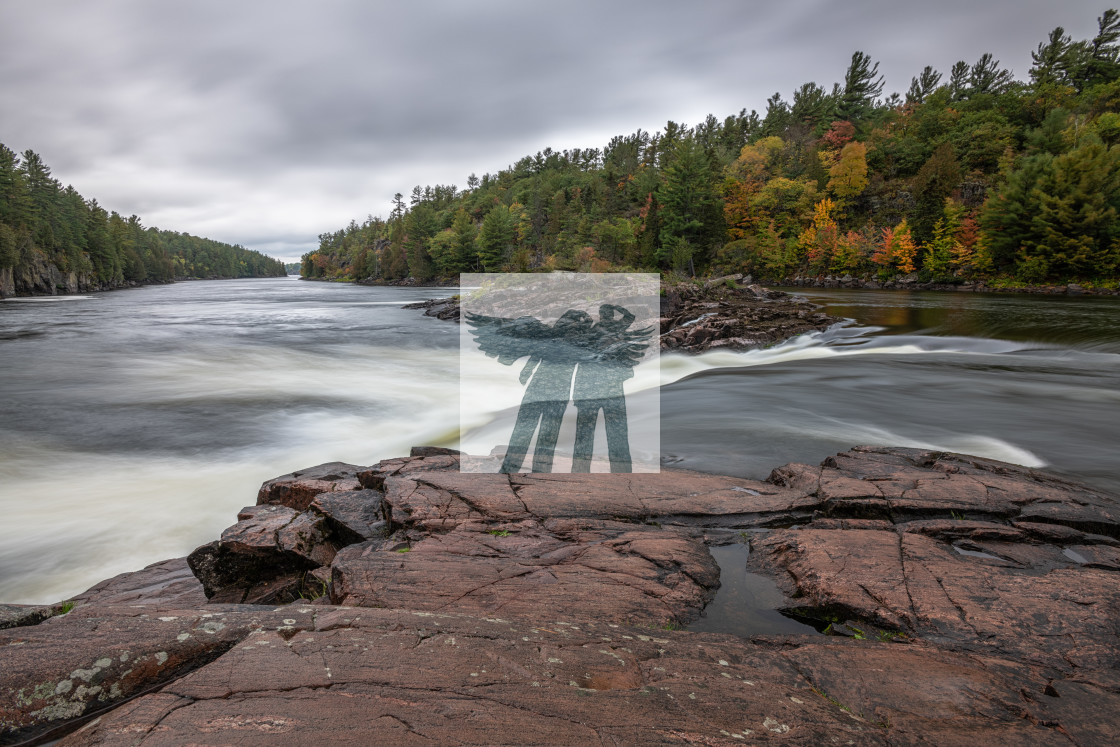 """""""Recollet Falls in Autumn"""" stock image"""