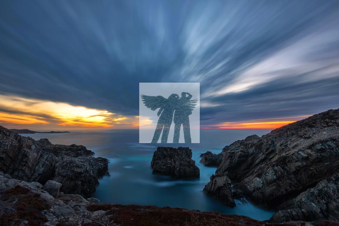 """Bonavista Sunset"" stock image"