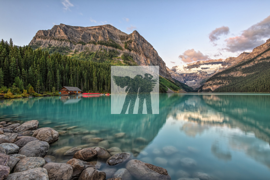 """Lake Louise Sunrise"" stock image"