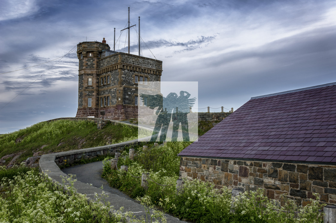 """Cabot Tower atop Signal Hill, St. John's Newfoundland Canada"" stock image"